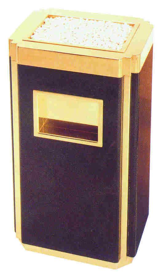 铜木垃圾桶SJ4025