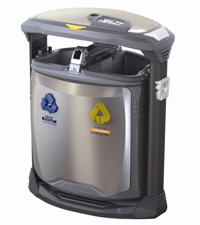不锈钢垃圾桶H-01B
