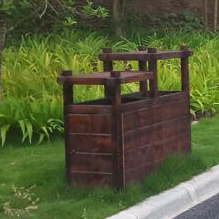 木制分类垃圾桶