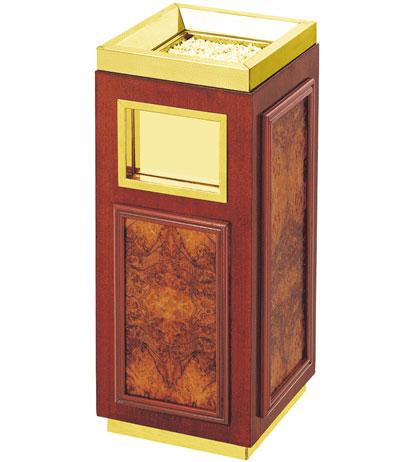 铜木垃圾桶 SJ4002