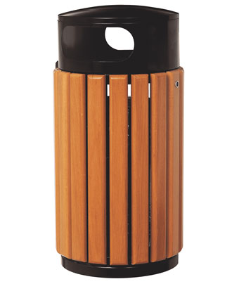 防腐木质果皮箱SJ5458