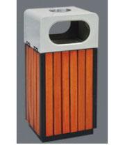 钢木双投口果皮箱SJ5490 钢木双投口果皮箱,成都钢木果皮箱,绵阳钢木果皮箱,四川钢木果皮