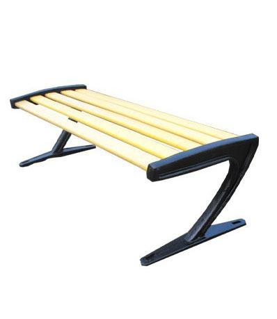 无靠背防腐木座椅