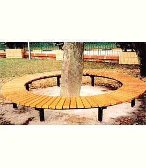 围树防腐木座椅SJ9526
