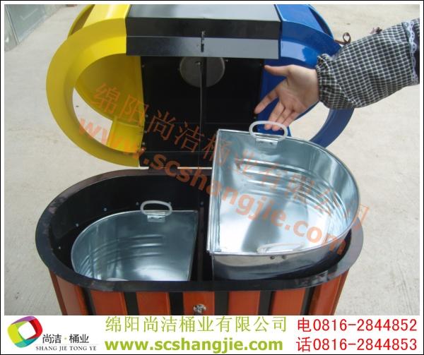 钢木分类垃圾桶 SJ5001 钢木分类垃圾桶,防腐木垃圾桶,分类垃圾桶,户外垃圾桶,垃圾桶厂家
