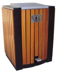 木条脚踏果皮箱 SJ5495 木条脚踏果皮箱,自动果皮箱,户外垃圾桶,成都垃圾桶