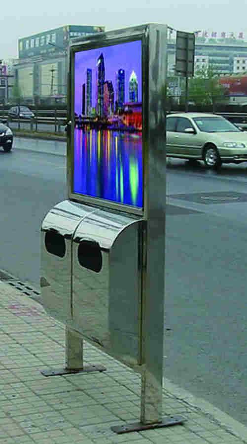 户外广告垃圾桶SJ8019