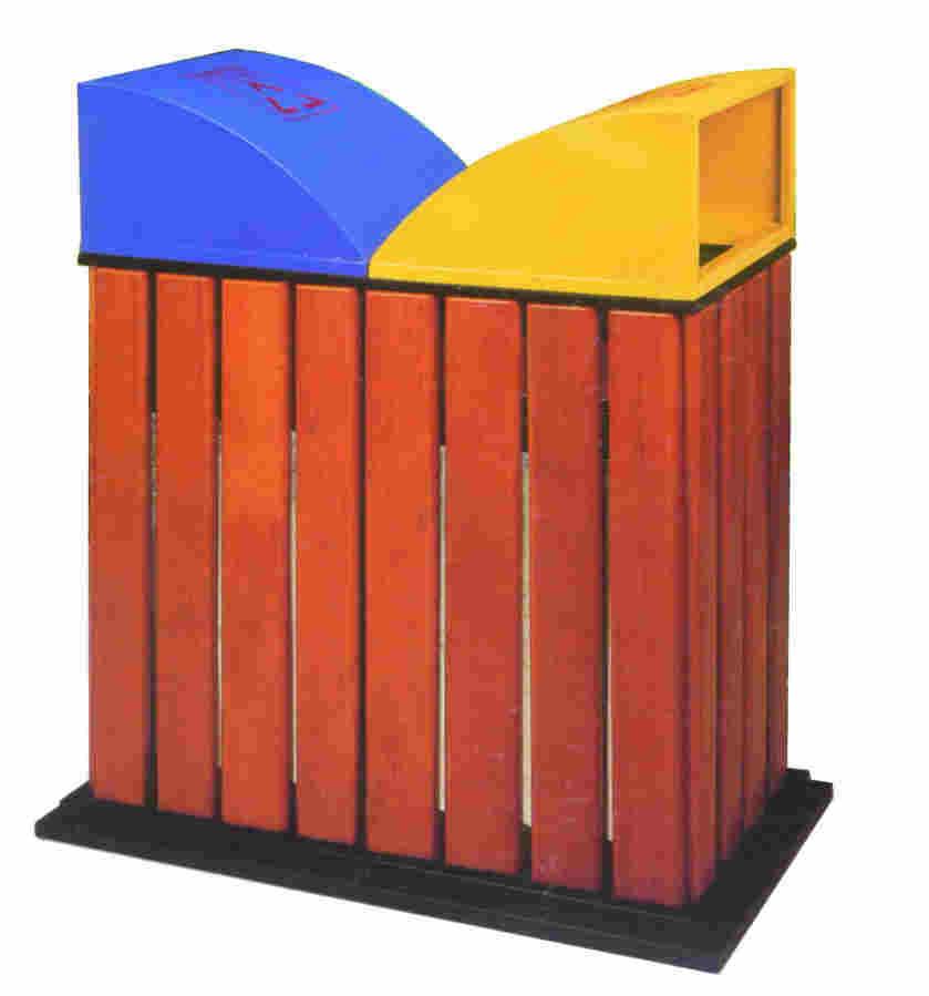 钢木分类垃圾箱SJ5017