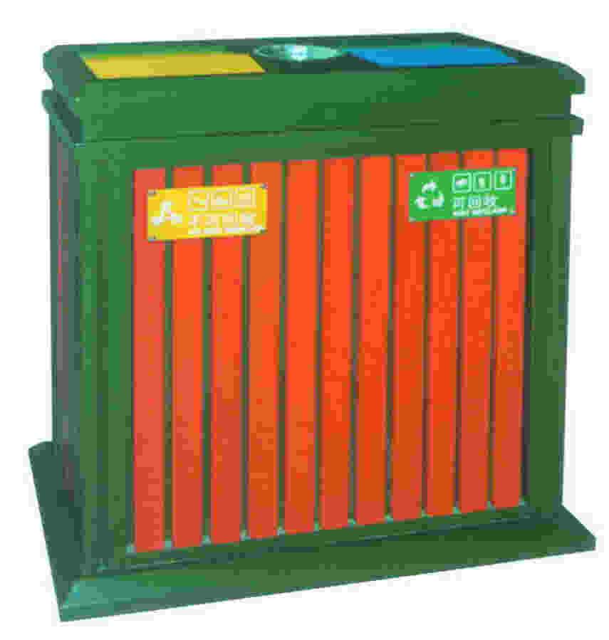 钢木垃圾桶SJ5022