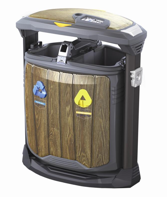 木纹垃圾箱H-01C
