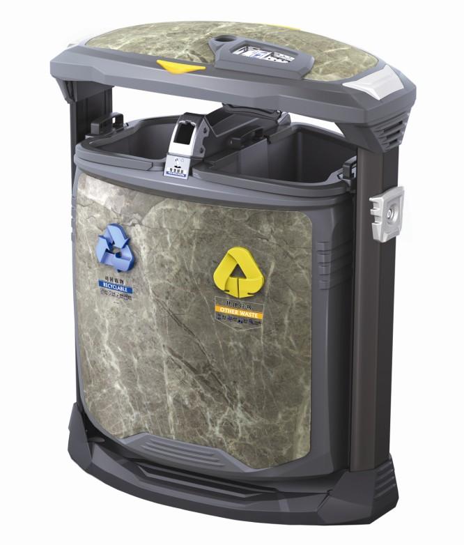 大理石纹垃圾桶H-01D