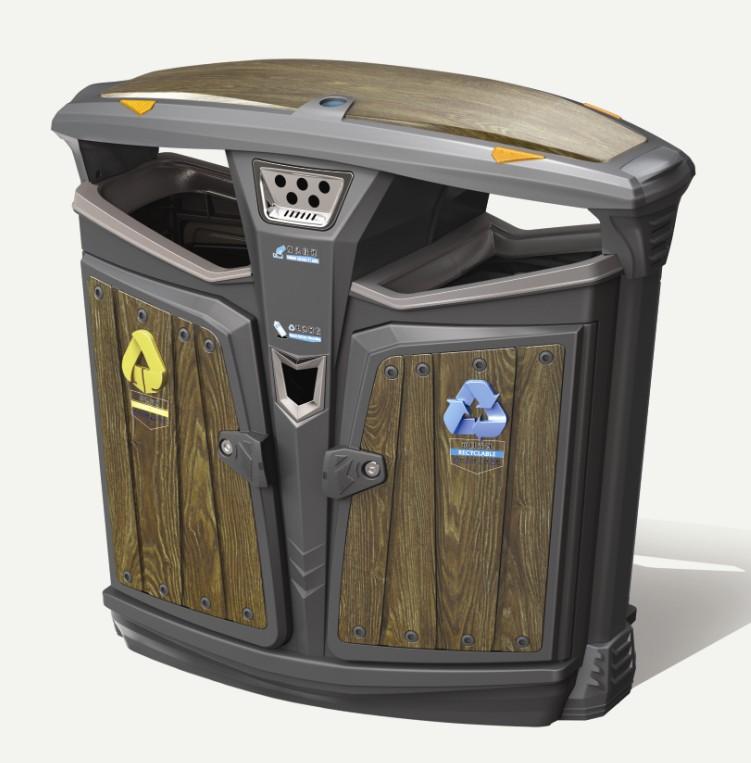 德澜仕木纹垃圾箱H-02C