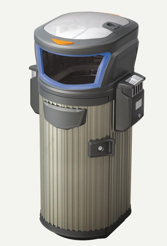 不锈钢垃圾桶H-03B