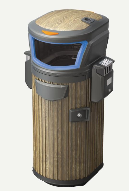 德澜仕木纹垃圾桶H-03C