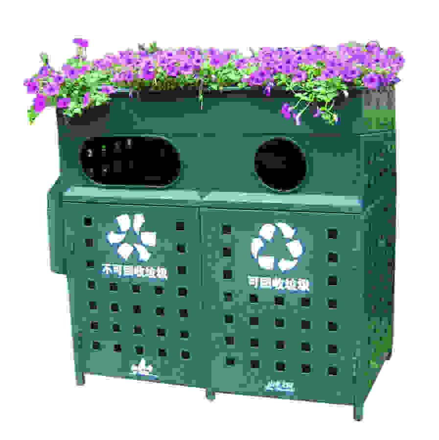 钢制户外分类垃圾桶 SJ5298