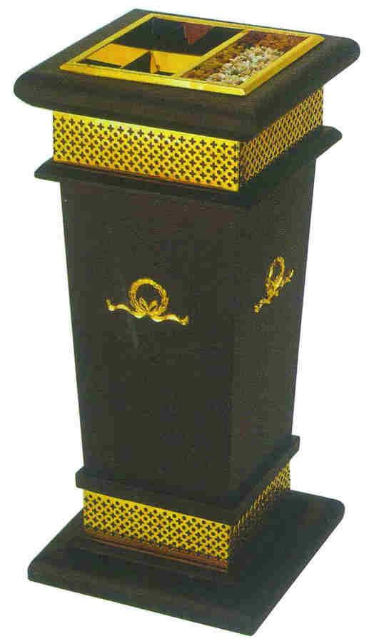 桐木方形垃圾桶SJ4045