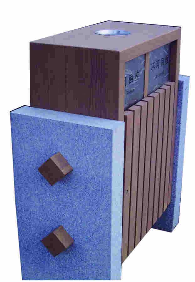 户外方形分类垃圾箱SJ5378
