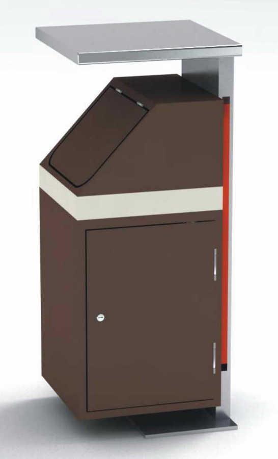 户外方形垃圾箱SJ5381