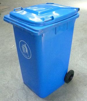 240L蓝色塑料垃圾桶