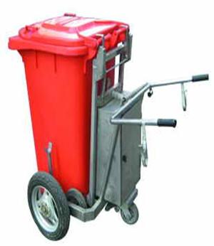 手推带轮塑料垃圾桶