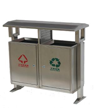 不锈钢分类垃圾桶SJ5178