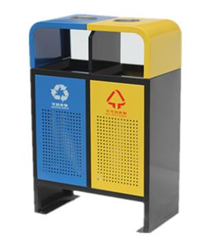 户外钢制分类垃圾箱SJ5503