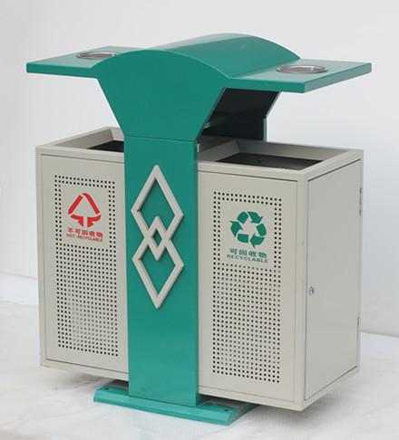 小区钢制分类垃圾桶SJ5169