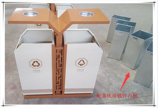 钢制分类垃圾桶天水定制款