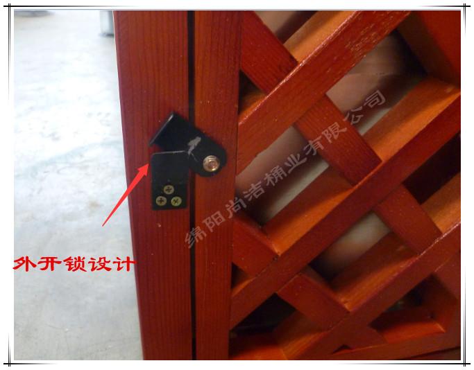 户外木条果皮箱图片二