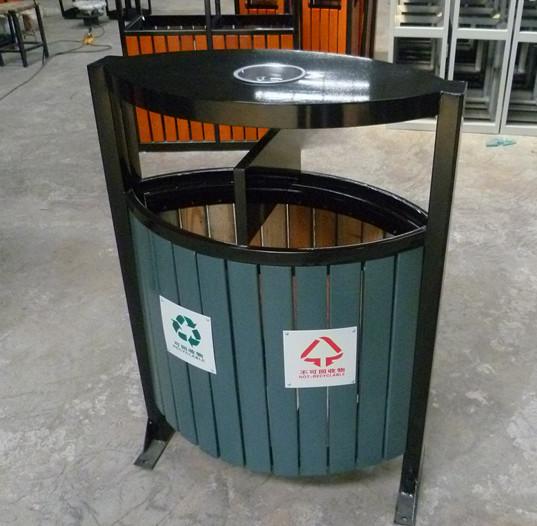 钢木分类垃圾桶SJ5471