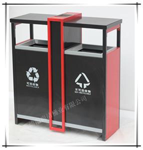 新款钢制分类垃圾桶SJ5219