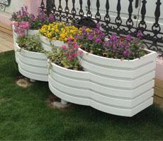 防腐木艺术花箱 隔离带花箱