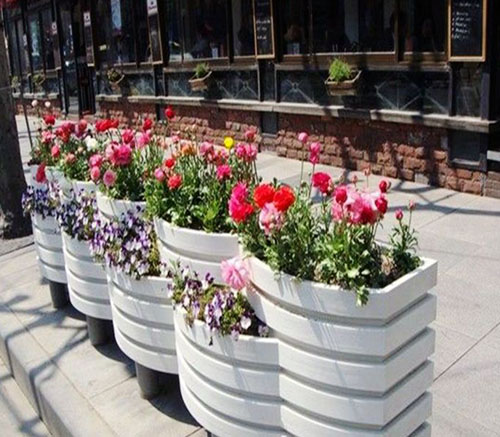 PVC艺术花箱 隔离带花箱