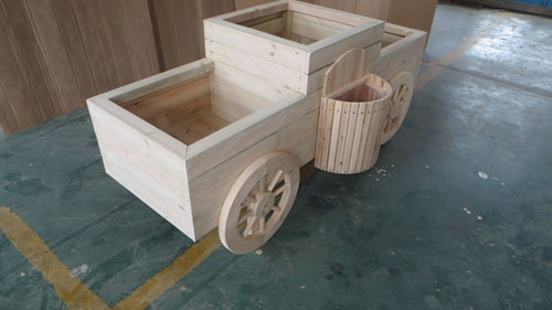 防腐木移动花箱