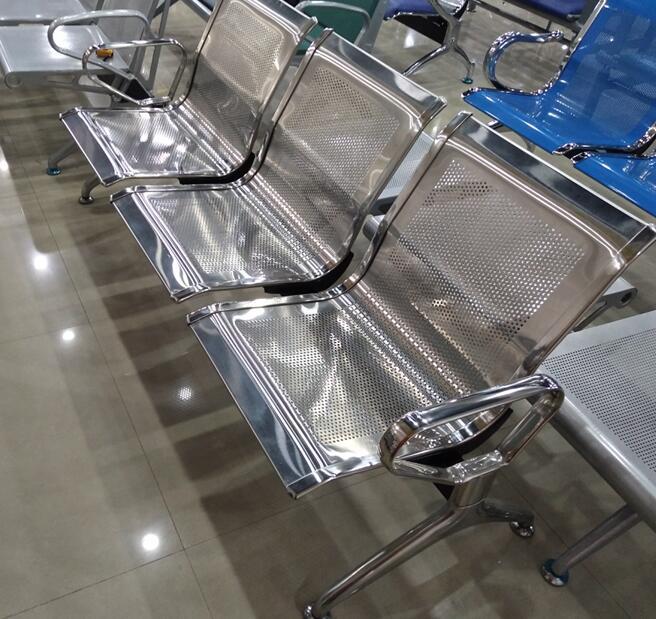 不锈钢三人位座椅
