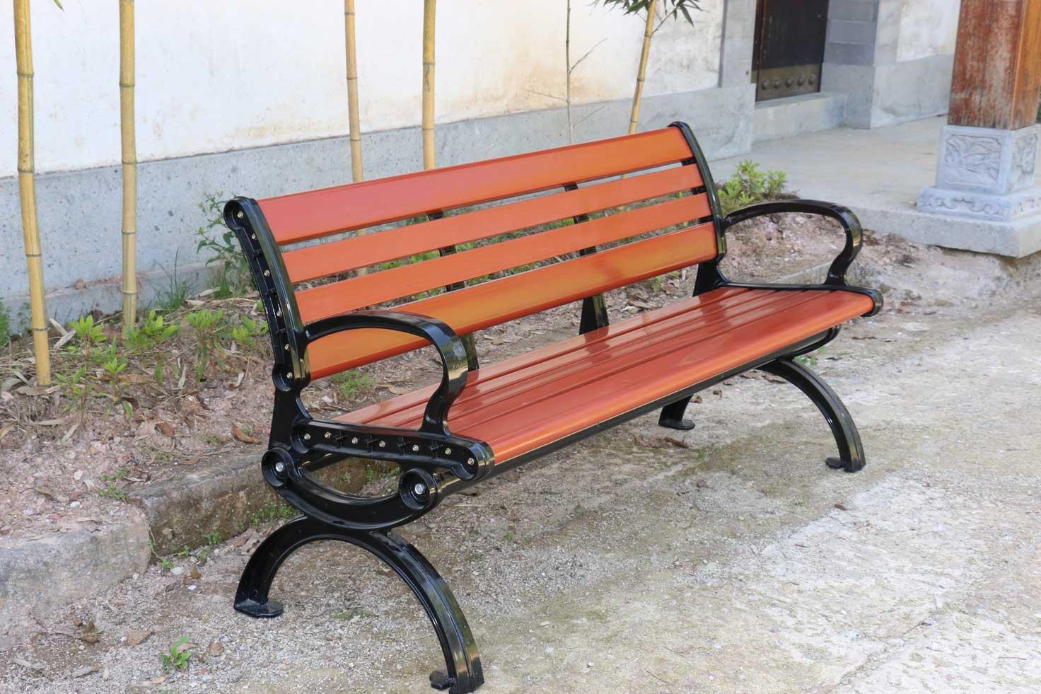 塑木园林椅公园椅9188