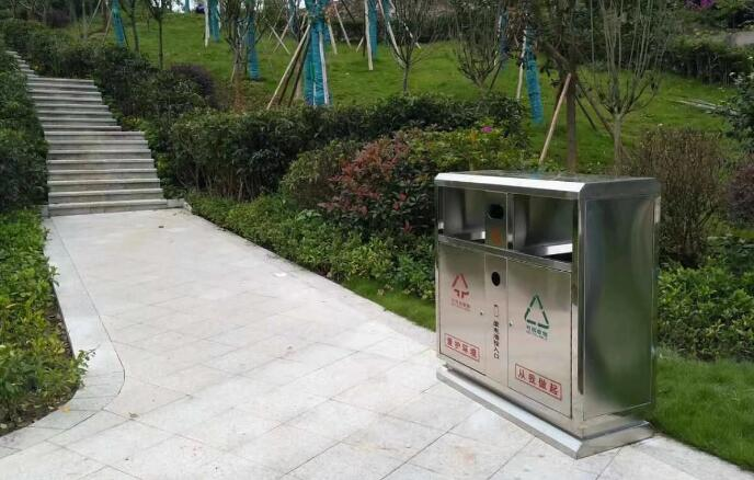 不锈钢垃圾桶双分类定制