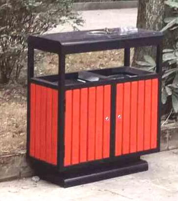 钢木垃圾桶SJ51312