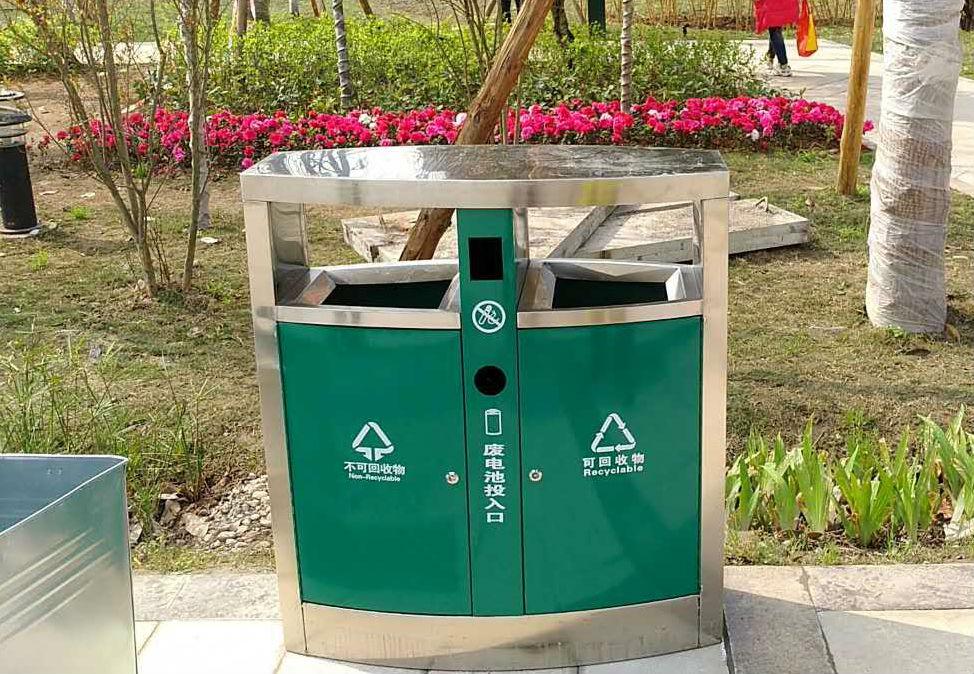 大气不锈钢垃圾箱
