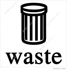 垃圾桶标志英文