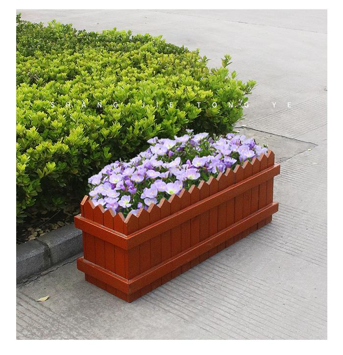 户外木花箱