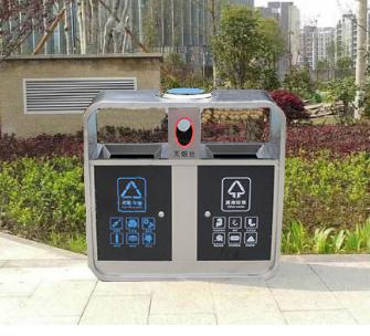 不锈钢带色垃圾桶SJ99009
